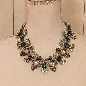 Faux Crystal & Turquoise Necklace